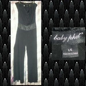 e2aa4f339c Baby Phat Black Strapless Woven Jumpsuit Sz Large